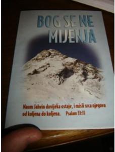 Croatian Bible Booklet for New Believers / Bog Se Mijenja / Unchangeable God ...