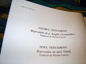 Romanian Children's Bible Full Color Old and New Testament / Biblia pvestita