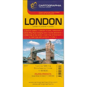 London Map by Cartographia (Country Maps) (English, French and German Edition)