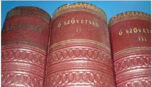 Antique Hungarian Old Testament in 3 Volumes / Mayar Oszovetsegi Szentiras a ...