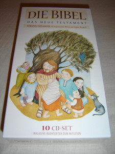 German Audio Bible for Children / The New Testament / 10 CD Set Including Booklets to Read Along the Stories