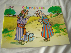 RUTH / English - Tagalog Bilingual Bible Story Coloring Book / For Pilipino Children