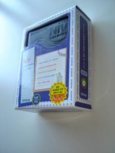 Korean - English Bilingual SMALL Size STUDY Bible / NKRV- NIV / Leather Bound, Zipper, Silver Edges, Thumb Index / New Korean Revised Version