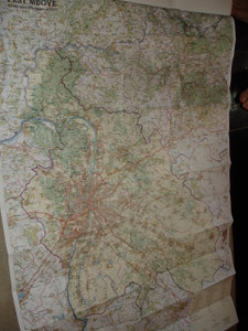 Pest County Road Map / Central Hungary Region with Town Informations