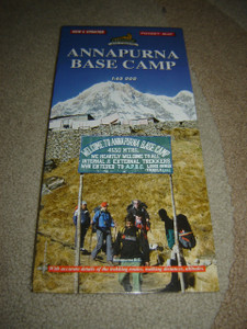 Annapurna Base Camp / 1:65,000 / Map with accurate details of the trekking routes / Nepal