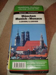 Huge Munchen City Map with Index / 1:20000 / Munich - Monaco