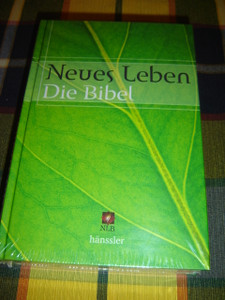 Die Bibel / German Bible Green Leaf Cover / Neues Leben NLB Translation / Hanssler