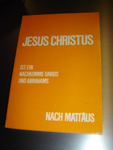 German Gospel of Matthew Printed in 1975 for East Germany