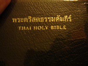 Small Leather Thai Holy Bible with Thumb Index / THRS27TI / Thailand