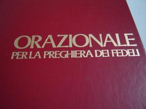 Orazionale Per La Preghiera Dei Fedeli / Rituale Romano / Tempo di Avvento