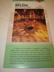 Judeia, Belem / Spanish Language Pamphlet about the Birthplace of Jesus with details, map and Scripture