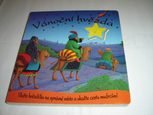 Follow The Christmas Star Czech Children's Boardbook Bible Story Book / Vancni Hvezda / Movable Star Attached to Book