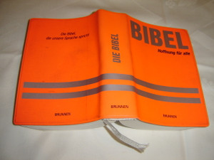 Die Bibel - German Bible Orange Vinyl Bound, Pocket Size Brunnen / Printed in Germany / Flex Edition Senfkorn 2003
