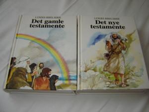 Norwegian Language Children's The Lion Story Bible in 2 Volumes / Lundes Bibelserie I-II Det Gamle Testamente and Det Nye Testamente