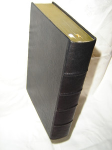 Czech Full Life Study Bible / Black Genuine Leather Bound with Golden Edges and Color Maps