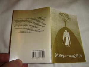 Gospel of Matthew in Latvian Language / Mateja Evangelijs