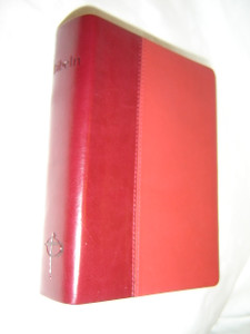 Swedish Reference Bible with Deuterocanonical Books / Bibeln Duo Soft Röd Liten / Red Duo-Tone Leather Cover with Golden Edges