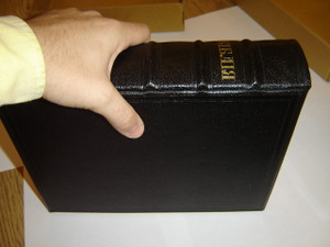 Ukrainian Pulpit Bible / Made and Printed in Great Britain / Regd Rexine Red Burnished Edges with Protective Box