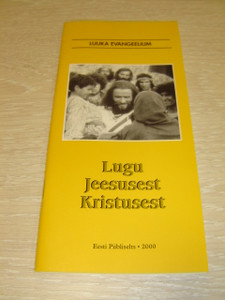 Estonian Language Gospel of Luke with Jesus Film Photo on Cover / Luuka Evangeelium