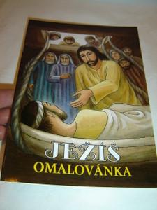 Czech Coloring Book for Children about the Stories of Jesus / Jeí - omalovánky
