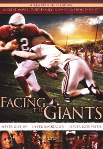 Facing The Giants DVD (2006) / Never Give Up. Never back Down. Never Lose Faith. / Inspiration for the game of life!
