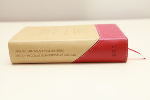 English - Russian Parallel Bible / Anglo - Ruskaya Parallelnaya Biblija / Duo Tone Tan/Cherry 1