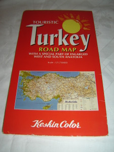 Touristic Turkey Road Map - With a Special Part of Enlarged West and South Anatolia