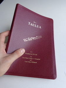 Tongan - English Bilingual NRSV New Testament - Burgundy Cover with Golden Edges / Ko e Taulua: Ko e Fuakava Fo'ou
