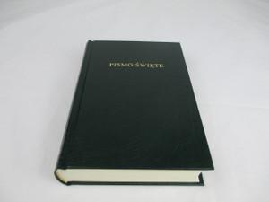 Polish Bible / Green Hardcover / Classic Protestant Bible Poland / BIBLIA to jest PISMO SWIETE Starego I Nowego Testamentu Nowy Przeklad
