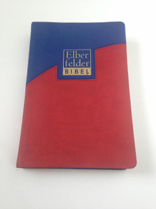 Elberfelder Bibel, Auflage der Standardausgabe 2008 2-Farbiges Kunstleder / German Elberfelder Bible, 2008 Standard Edition Red and Blue Duo-Tone Leatherette