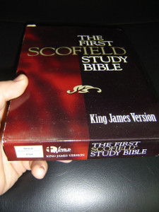 The First Scofield Study Bible: King James Version – based on 1909 edition of The Scofield Reference Bible / Black Imitation Leather FS8, Words of Christ in Red