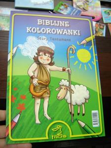 Biblijne Kolorowanki: Stary Testament / Coloring Bible: Old Testament, Polish Language