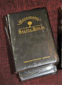 Tagalog Popular Version Bible, TPV035GE Black Leather with Golden Edges / Magandang Balita Biblia