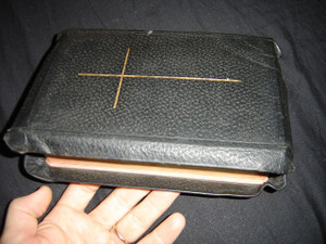 1969 Persian Farsi Bible: Dr. Bruce's Translation / Black Leather with Golden Cross and Golden Edges / Reproduced by Photography from 1904 Edition / 99P 93P / Maps and Photographs / SBN 0564000760