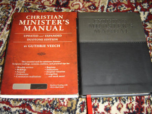 Christian Minister's Manual, Updated and Expanded Edition / Black-Grey DuoTone Vinyl Softcover with Silver Edges