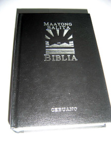 Cebuano Bible, Maayong Balita Biblia (MBB) / MBB99CEB033TI / Black Hardcover with Thumb Index / Double Column Text with Book Introductions, Maps at the End