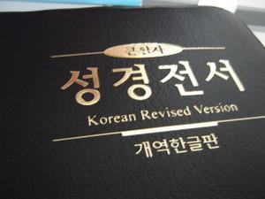 Korean Holy Bible / Midsize Black PVC Cover / Korean Revised Version H82B