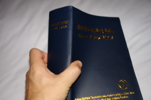 Indonesian - English Bilingual Bible / Alkitab Kabar Baik - Good News Bible / Blue Cover / Modern Today's Indonesian And English 062TI Thumb Indexed