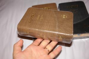Indonesian - English Bilingual Holy Bible Luxury Edition Compact / ALKITAB Terjemahan Baru - New International Version TB - NIV / Golden Edges, Thumb Index, Colored Maps / Kamus Alkitab