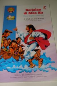 Indonesian – English Bilingual Children's Bible Story Book / Yesus Berjalan di Atas Air – A Walk on Waters – Jesus Walks on the Water