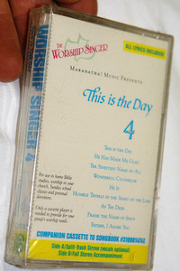 Worship Singer 4 This Is The Day / Maranatha! Music Presents 1987 / Companion Cassette To Songbook #310001474X / All Lyrics Included
