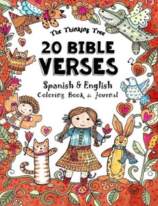 20 Bible Verses - Spanish & English - Coloring Book: A Pocket Sized Coloring Book for Adults and Children Paper Back Sarah Janisse Brown