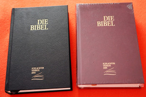 German Bible Die Bibel CLV Schlachter Version 2000 / mit Parallelstellen und Studienhilfen / Kunstleder, weinrot / Imitation Leather, Burgundy, Color Maps, Study Aid