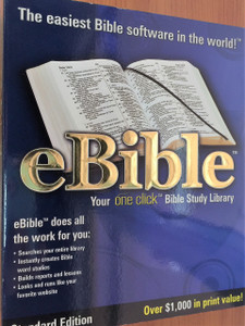 eBible Multimedia CD-ROM by Thomas Nelson Publishers / STANDARD Edition / Your ONE CLICK Bible Study Library / KJV / NKJV and many many more