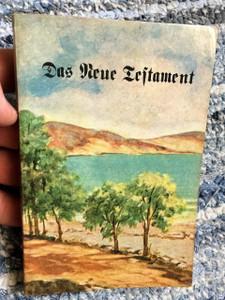 German New Testament Holy Land Cover / Das Neue Testament / Old Print 1947 / Martin Luthers Text / Fraktur Script