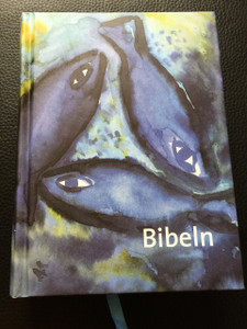 Bibeln / cartonage, fiskmotiv / Swedish Bible with Fish Painting on Cover  / Bibel 2000-översättningen / Gamla och Nya testamentet Tillägg till Gamla testamentet (Apokryferna)