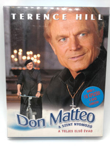 Terence Hill as Don Matteo 2000 / SEASON ONE - 16 Episodes 4 DVD Hungarian Release / Don Matteo - A Szent Nyomozo / A teljes elso evad / Region 2 PAL DVD / Audio: Italian, Hungarian / Subtitle: Hungarian / Actors: Terence Hill, Nino Frassica