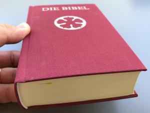 German Luther Bible / Purse Size Burgundy Cover / Die Bibel, nach der Übersetzung Martin Luthers / Taschenformat