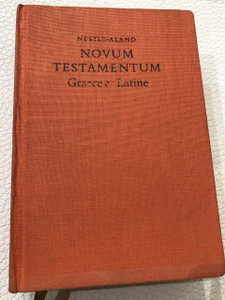 German - Latin Bilingual New Testament / Novum Testamentum Graece et Latine / Hardcover – 1963 / WIDE MARGIN 25th Edition