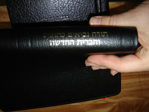 Hebrew Leather Bible with Gold edges / Black Leather / Old Testament in Massoretic text